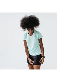 KALENJI - Koszulka do biegania damska Kalenji Run Dry. Kolor: zielony. Materiał: materiał, poliester. Sport: bieganie