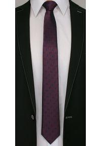 Alties - Burgundowy Elegancki Męski Krawat -ALTIES- Granatowy Wzór Paisley. Kolor: niebieski, czerwony, wielokolorowy. Materiał: tkanina. Wzór: paisley. Styl: elegancki