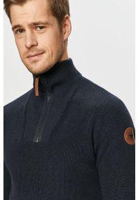 Niebieski sweter Tom Tailor Denim casualowy, z golfem, na co dzień, krótki