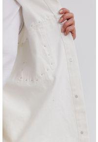 Answear Lab - Kurtka jeansowa. Kolor: biały. Materiał: jeans. Styl: wakacyjny