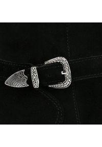 Czarne botki Arturo Vicci na klamry, z cholewką
