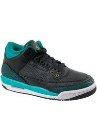 Czarne buty sportowe Jordan z cholewką, w kolorowe wzory