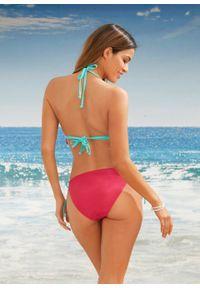 Bikini z trójkątnymi miseczkami (2 części) bonprix różowy. Kolor: różowy