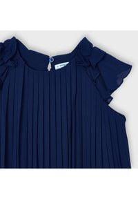 Mayoral Sukienka elegancka 3911 Granatowy Regular Fit. Kolor: niebieski. Styl: elegancki