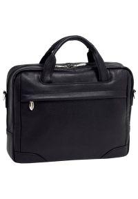 Torba na laptopa MCKLEIN Bronzeville 15.6 cali Czarny. Kolor: czarny. Materiał: materiał. Styl: biznesowy