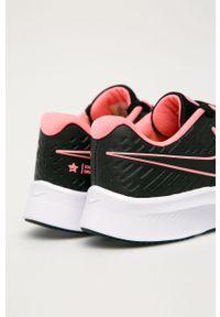 Czarne buty sportowe Nike Kids z cholewką, z okrągłym noskiem, na sznurówki