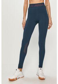 Niebieskie legginsy adidas Performance gładkie