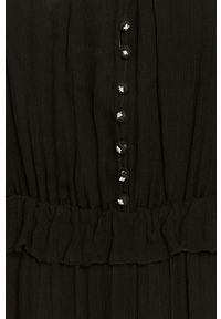 Czarna sukienka The Kooples rozkloszowana, na co dzień, mini, casualowa