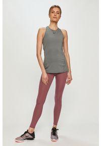 Fioletowe legginsy Nike z podwyższonym stanem, gładkie