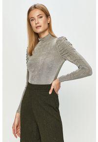 Szara bluzka Vero Moda na co dzień, z długim rękawem