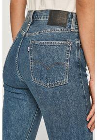 Niebieskie proste jeansy Levi's® na spotkanie biznesowe, biznesowe