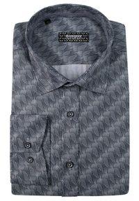 Niebieska elegancka koszula Grzegorz Moda Męska do pracy, długa, z długim rękawem