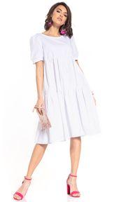 Biała sukienka Tessita midi