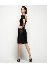 Czarna sukienka Pinko z kwadratowym dekoltem, midi, na imprezę