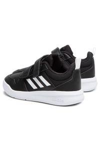 Czarne półbuty Adidas na rzepy, na spacer, z cholewką