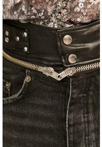 Czarne szorty The Kooples z podwyższonym stanem, na co dzień, casualowe