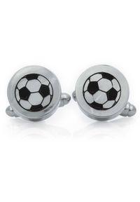 Modini - Srebrne okrągłe spinki do mankietów - piłki U269. Kolor: srebrny