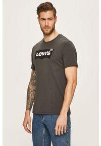 Szary t-shirt Levi's® na spotkanie biznesowe, biznesowy