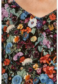 Bluzka medicine z krótkim rękawem, krótka, na co dzień, w kwiaty