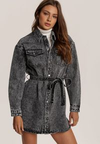 Szara kurtka jeansowa Renee