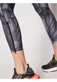 Nike Legginsy Epic Faster Run Division CZ9236 Szary Slim Fit. Kolor: szary