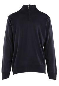 Born2be - Granatowy Sweter Z Wełną Avoah. Kolekcja: plus size. Kolor: niebieski. Materiał: wełna. Długość: długie. Styl: klasyczny
