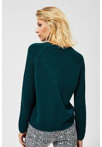 Sweter MOODO z okrągłym kołnierzem, klasyczny