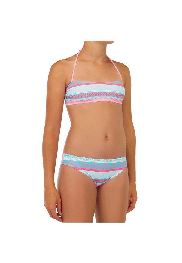 OLAIAN - Kostium Kąpielowy Dwuczęściowy Liloo 100 Tur Dla Dzieci. Kolor: turkusowy, niebieski, wielokolorowy. Materiał: poliester, materiał, elastan