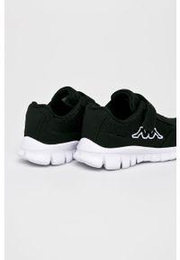 Czarne buty sportowe Kappa z cholewką, na rzepy
