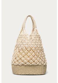 Beżowa torba plażowa ANSWEAR wakacyjna, na ramię