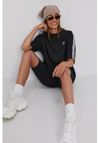 adidas Originals - T-shirt bawełniany. Kolor: czarny. Materiał: bawełna
