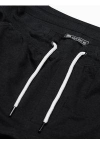 Ombre Clothing - Spodnie męskie dresowe joggery P951 - czarne - XXL. Kolor: czarny. Materiał: dresówka