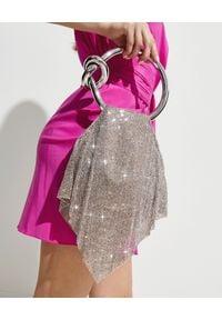 BENEDETTA BRUZZICHES - Torebka z kryształów Casper Large White Lady. Kolor: srebrny. Wzór: aplikacja. Styl: wizytowy, elegancki. Rodzaj torebki: do ręki