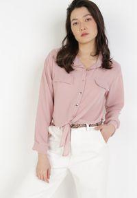 Born2be - Różowa Koszula Viviciane. Kolor: różowy. Materiał: jeans. Długość rękawa: długi rękaw. Długość: długie