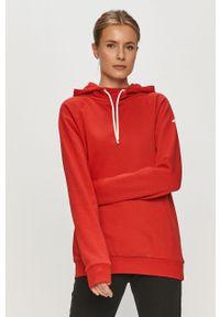 Czerwona bluza 4f na co dzień, długa, gładkie