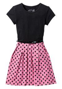 Czarna sukienka bonprix midi, z krótkim rękawem