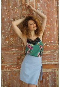 Niebieska spódnica Nommo krótka