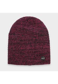 Różowa czapka zimowa outhorn melanż