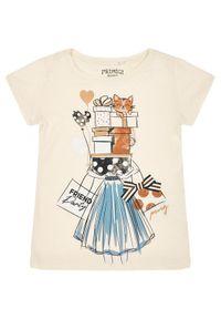 Beżowy t-shirt Primigi