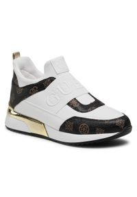 Guess - Sneakersy GUESS - Maygin FL6MYI FAL12 WHIBR. Okazja: na co dzień, na spacer. Kolor: biały. Materiał: skóra ekologiczna, materiał. Szerokość cholewki: normalna. Sezon: lato. Styl: casual