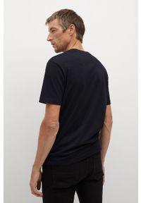 Czarny t-shirt Mango Man casualowy, na co dzień