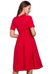 Sukienka elegancka, do pracy, ze stójką