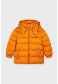 Pomarańczowa kurtka Mayoral na co dzień, casualowa