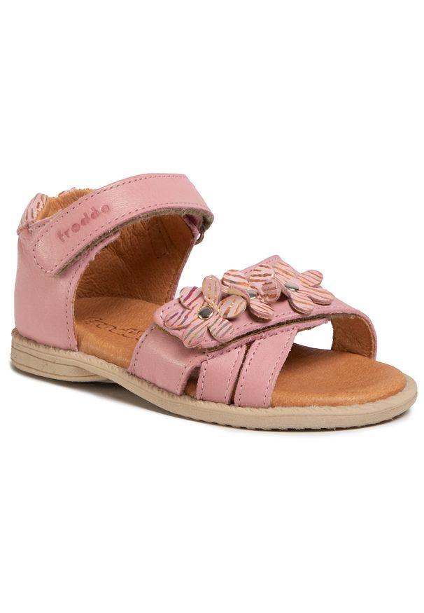 Różowe sandały Froddo z aplikacjami, na co dzień, casualowe
