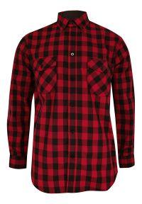 ForMax - Koszula Czarno-Czerwona Casualowa w Kratkę, 100% Bawełna, Slim, Długi Rękaw -FORMAX. Okazja: na co dzień. Kolor: czerwony. Materiał: bawełna. Długość rękawa: długi rękaw. Długość: długie. Wzór: kratka. Styl: casual