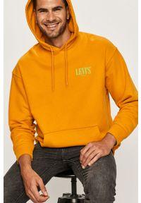 Żółta bluza nierozpinana Levi's® biznesowa, na spotkanie biznesowe, w kolorowe wzory