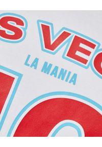 LA MANIA - Biały t-shirt z nadrukiem Pasadena. Kolor: biały. Materiał: bawełna. Wzór: nadruk #8