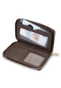 Wittchen - Damski portfel ze skóry lizard duży. Kolor: beżowy, brązowy, wielokolorowy. Materiał: skóra. Wzór: motyw zwierzęcy, aplikacja