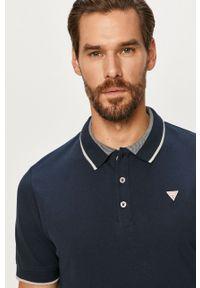Niebieska koszulka polo Guess Jeans krótka, polo