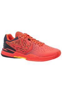 ARTENGO - Buty tenisowe męskie na mączkę ceglaną Artengo TS560. Kolor: czarny, pomarańczowy, żółty, czerwony, wielokolorowy. Szerokość cholewki: normalna. Sport: tenis